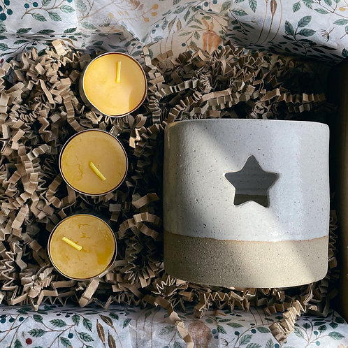 White Tealight Gift Box