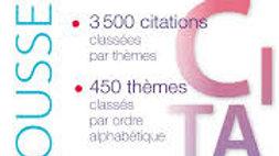 Dictionnaire des CITATIONS LITTÉRAIRES.