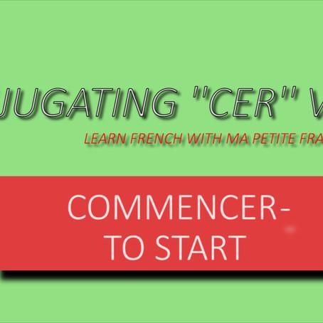 CONJUGATING ''CER'' VERBS- MPFG102