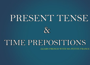 Present Tense & Time Prepositions- MPFG102
