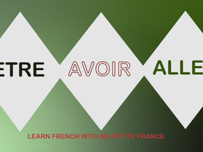 Recap- French Verbs( Etre, Avoir& Aller)