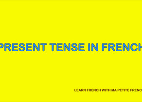FRENCH PRESENT TENSE- M.P.F G102