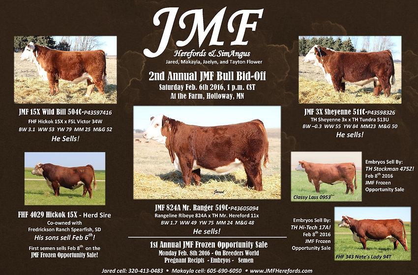 2016 JMF Bull Sale