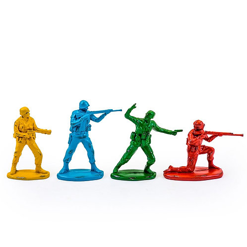 Set of Four Vintage Retro Inspired Tin Soldier Figures