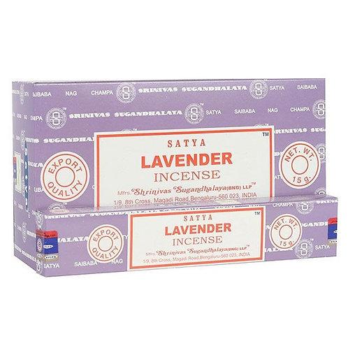 Box of Spiritual Healing Satya Lavender Incense Sticks