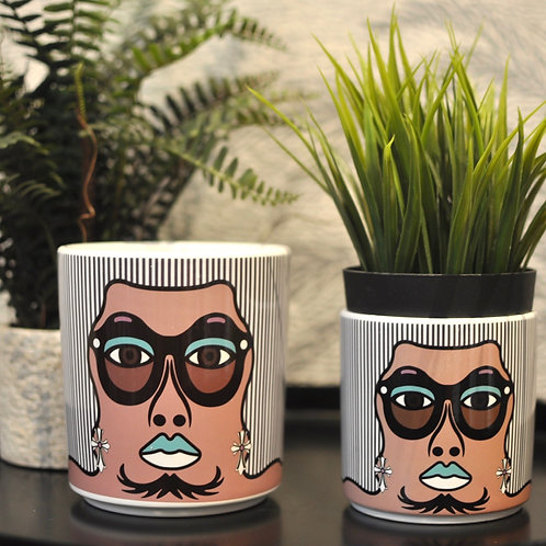 70s People Hutch Style Ceramic Pots