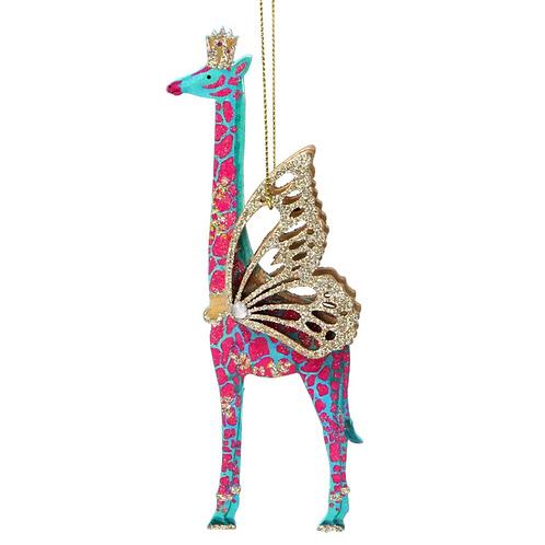 Fantasy Animal Glitter Giraffe Tree Decoration