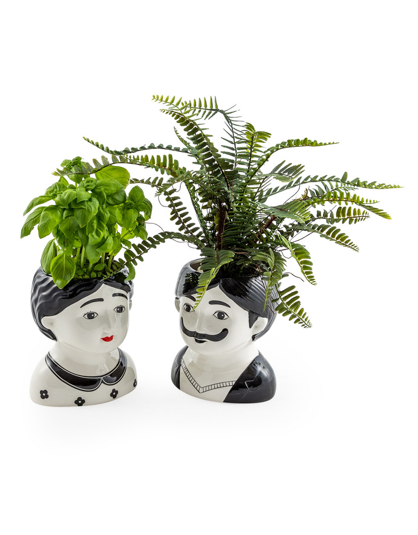 Large Man and Woman Ceramic Pots