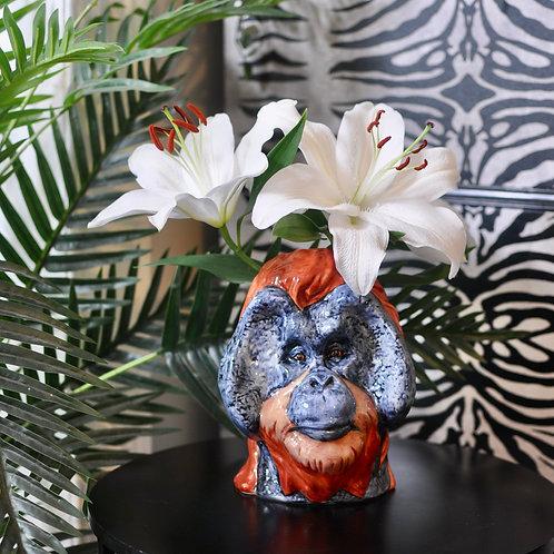 Ceramic Orangutan Vase Jar