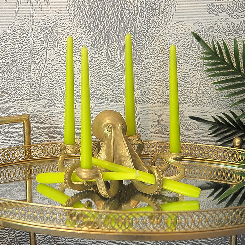 Lime Tapered Candles