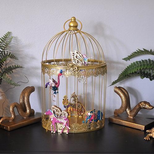 Decorative Gold Wire Birdcage