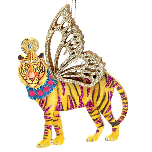 Fantasy Animal Glitter Tiger Tree Decoration