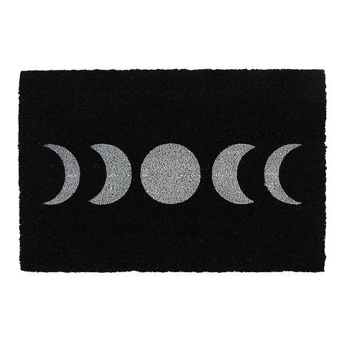 Black Moon Phases Doormat