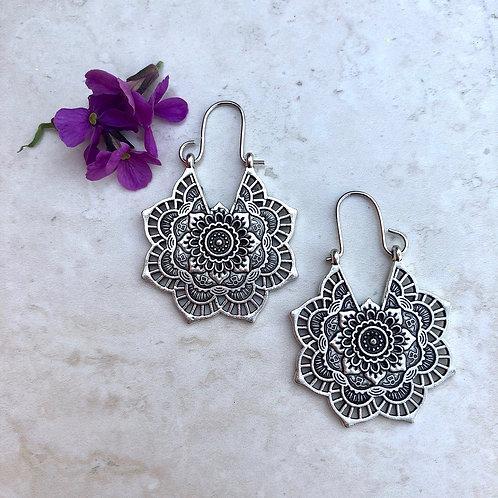 Silver Tone Gypsy Earrings