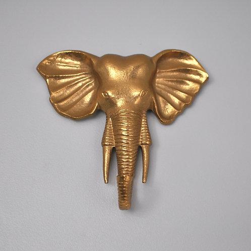Large Gold Elephant Wall Hook