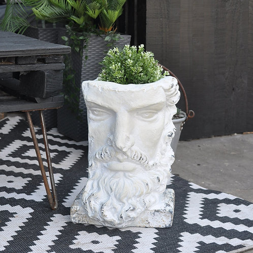 Tall Rustic Stone Effect Classical Planter