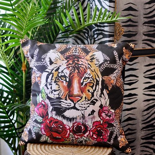 Luxury Handmade Tiger Leopard Statement Cushion