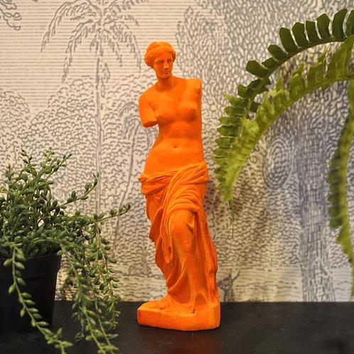 Orange Flocked Venus De Milo Figure