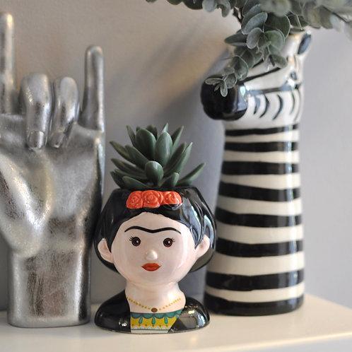 Quirky Ceramic Mini Frida Kahlo Pot