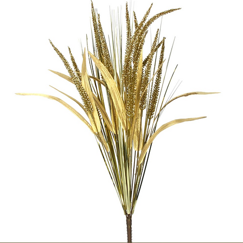 Gold Glitter Reed Decoration