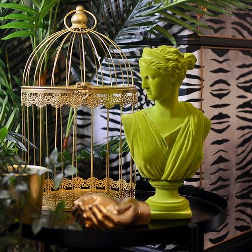 Olive Green Flock Artemis Bust