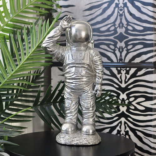 Silver Standing Astronaut Figure