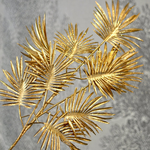 Glitter Mat Gold Palm Leaf Decoration