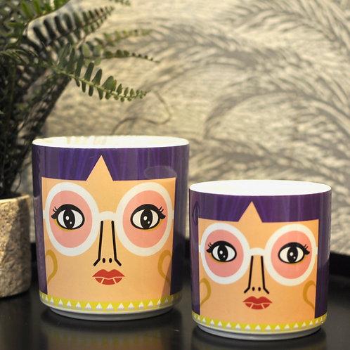 Set of Two 70s People Farah Ceramic Pots