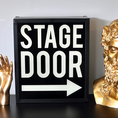 Retro Stage Door Light Box Sign