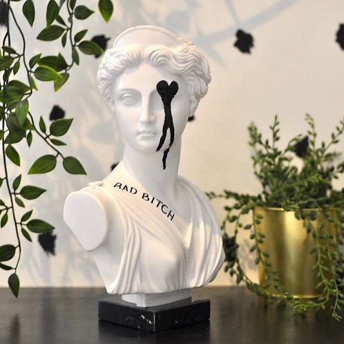 Unique Upcycled Bad Bitch Artemis Sculpture