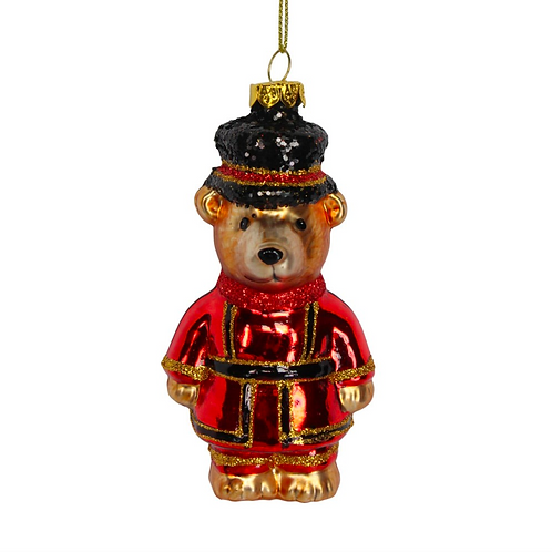 London Glass Red Beefeater Teddy