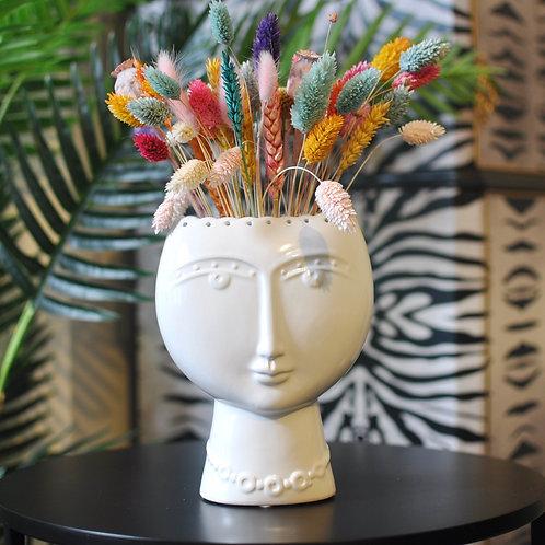 Ceramic Lady Face Vase