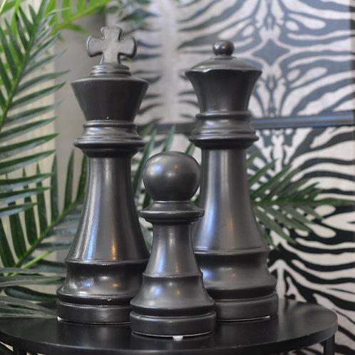 Matt Black Chess Piece Ornament