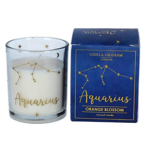 Aquarius Zodiac Star Sign Scented Candle