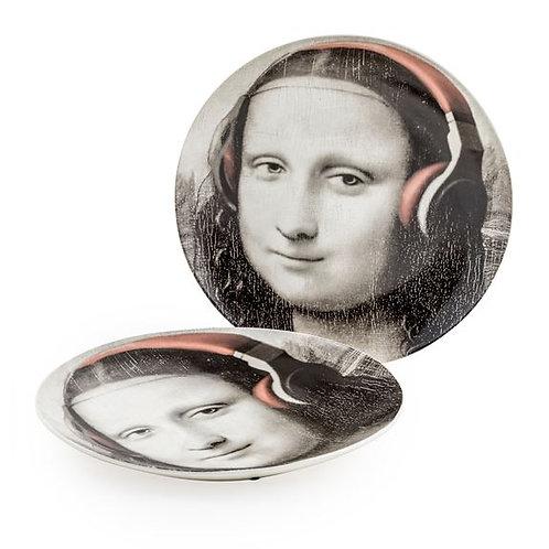 Fab Mona Lisa Face Headphones Plate