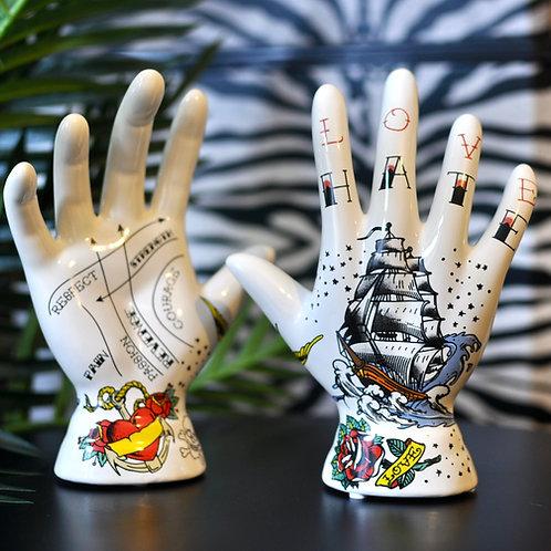 Tattoo Palmistry Ship Hand Ornament