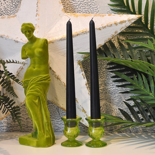 Pair of Black Tapered Dinner Candles