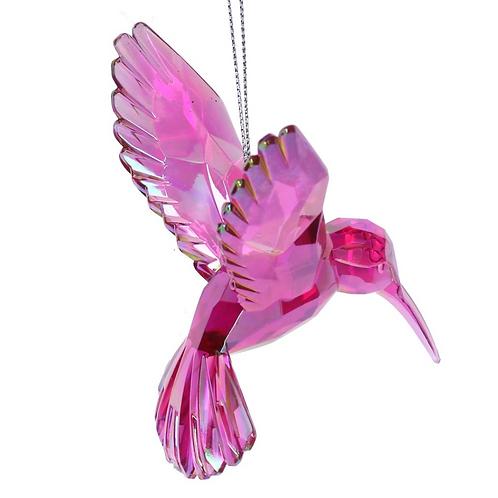 Fantasy Animal Pink Acrylic Hummingbird Tree Decoration