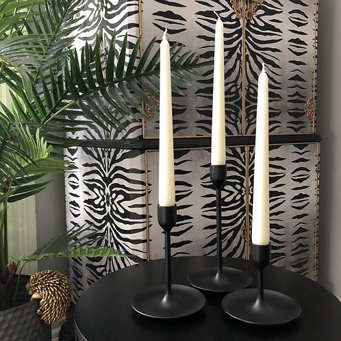 Ivory Tapered Dinner Candles