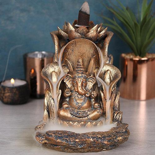 Bronze Ganesh Backflow Incense Burner