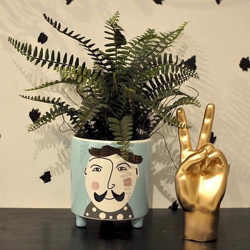Hipster Gent Plant Pot