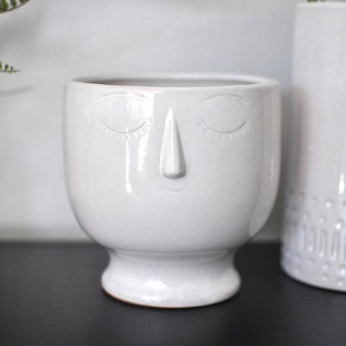 Decorative White Bowl Vase