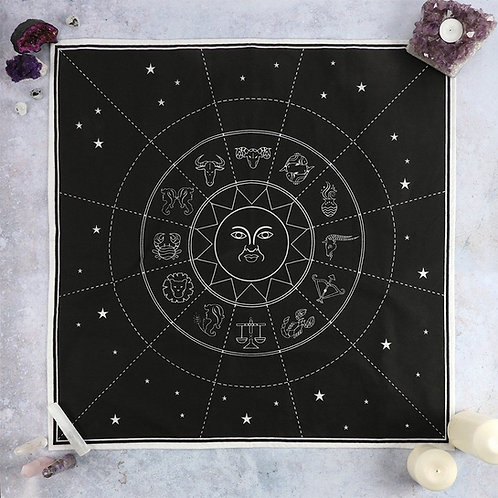 Star Sign Crystal Grid Altar Cloth