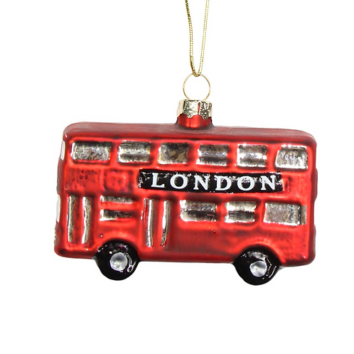 Red London Bus Tree Decoration