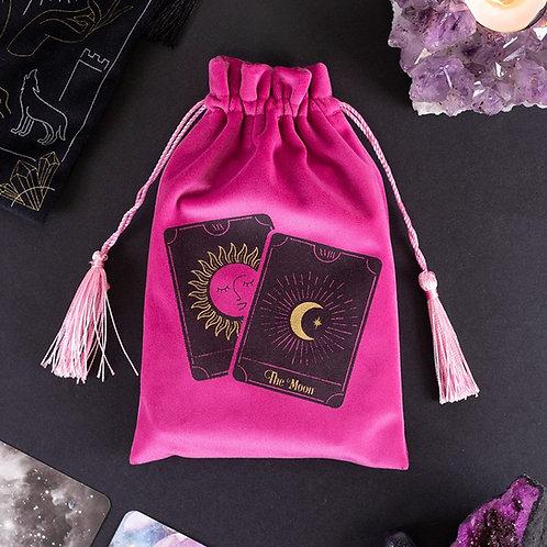 Pink Velvet Tarot Card Pouch