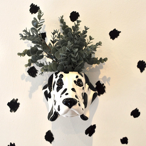 Quirky Dalmation Wall Mounted Vase