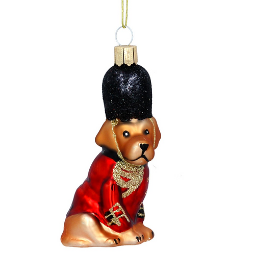 Red London Guard Dog Tree Decoration