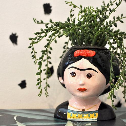 Quirky Ceramic Frida Kahlo Pot