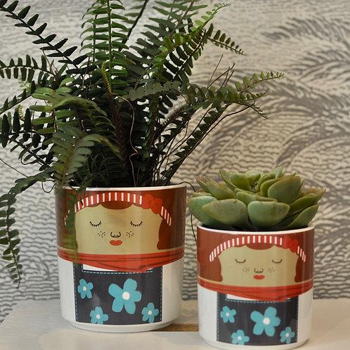 Set of Two Jenny Ceramic Pots