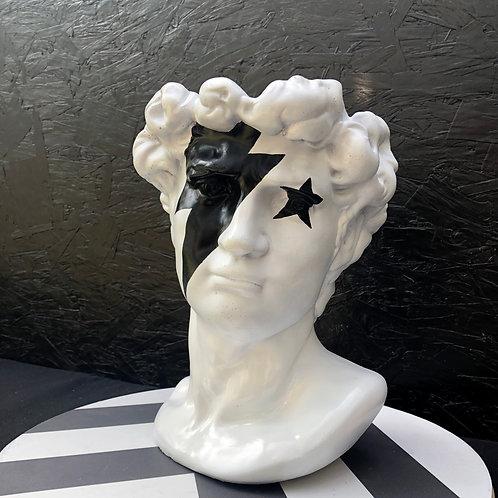 White Ziggy David Head Sculpture